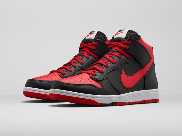 "newest 2a9cf f32be ... The Nike Dunk High CMFT ""Bred"" are available now for just 63.99 ..."