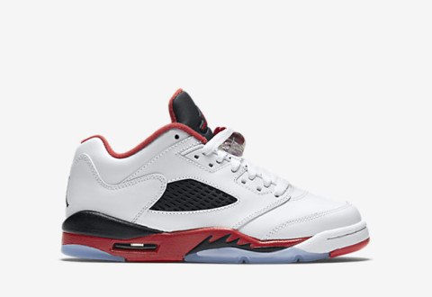 "37487867cd1d The Air Jordan V Retro Low ""Fire Red"" GS sizes are available now for   120.00 with Free Shipping"