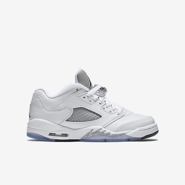 "purchase cheap ac317 5ac98 AIR JORDAN 5 RETRO LOW ""WHITE / WOLF GREY"" GS SIZES ..."