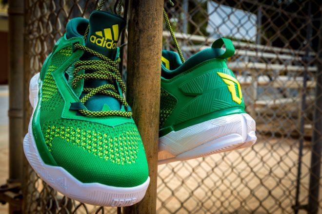 """The Adidas D. Lillard 2.0 Primeknit """"Oakland A s"""" are available now for  just  84.00 with Free Shipping 3332ef871"""