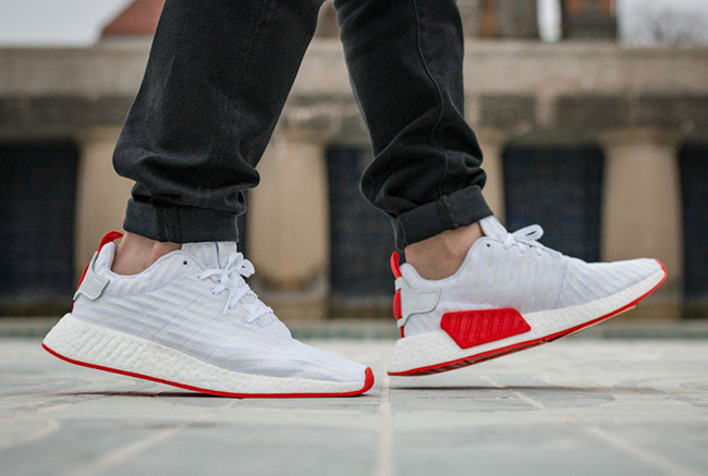 Adidas Nmd R2 Pk White Core Red 144 50 Free Shipping