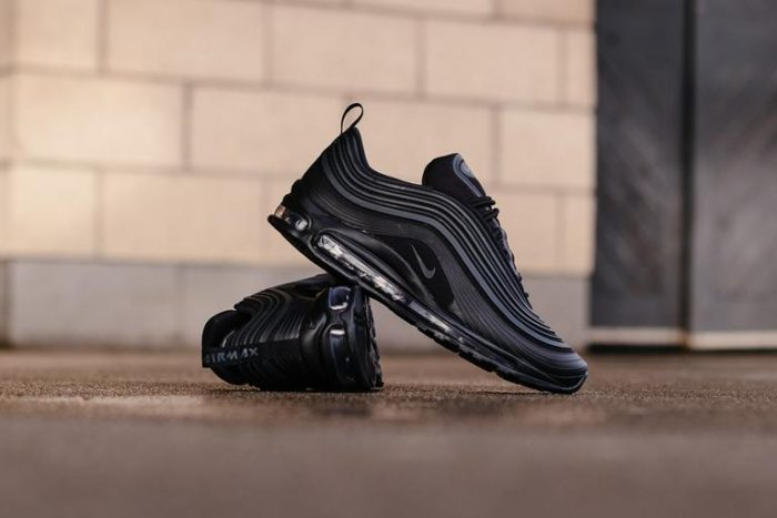 "NIKE AIR MAX 97 ULTRA PREMIUM '17 ""TRIPLE BLACK"" 