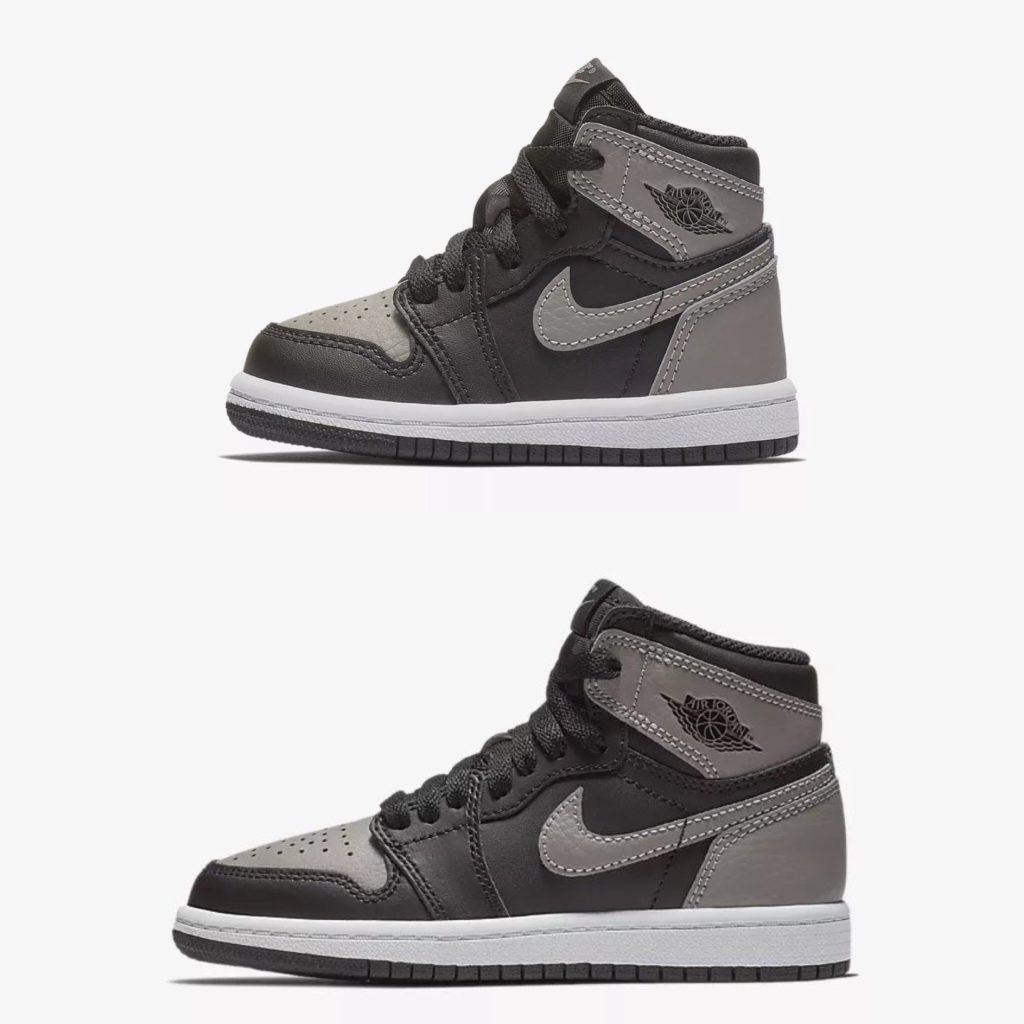 "best service 3715b d5bca AIR JORDAN 1 RETRO HIGH OG ""SHADOW"" KIDS SIZES 