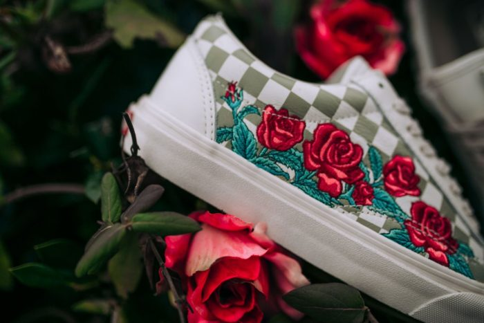 """VANS OLD SKOOL DX EMBROIDERED """"ROSE""""  65.00 FREE SHIPPING   Sneaker ... 7f673170a"""