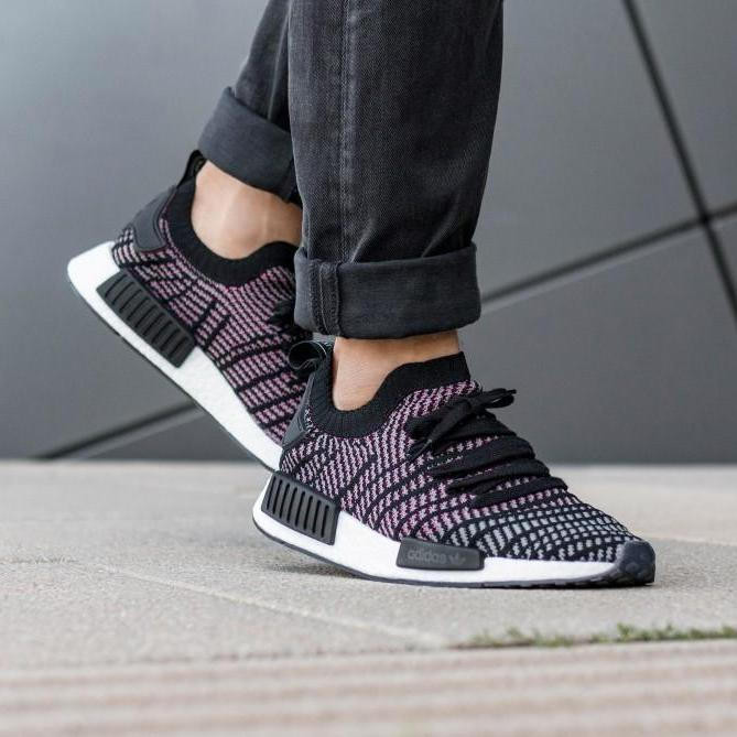 """be10a44e11f4a The Adidas NMD R1 STLT """"Core Black   Pink"""" are available now for just   79.99 with Free Shipping"""