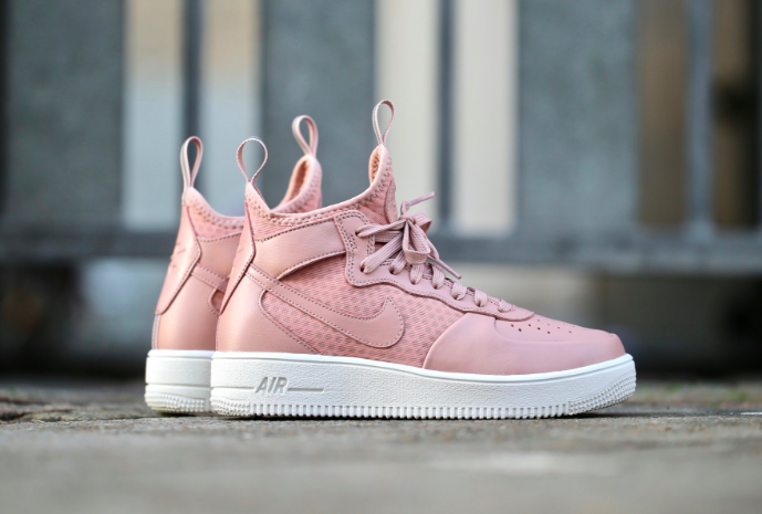 """08c2fbe85ffe The Women s Nike Air Force 1 Ultraforce Mid """"Particle Pink"""" are available  now for just  41.23 + Shipping"""
