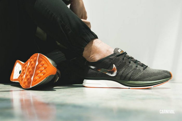"""95ccd755a00cd NIKE FLYKNIT TRAINER """"OLIVE   ORANGE""""  87.98 FREE SHIPPING. Posted by  sneakersteal ..."""