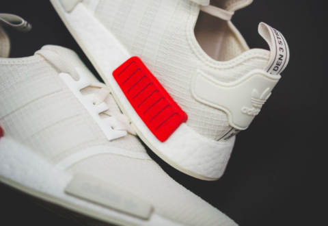 "07166c856 The Adidas NMD R1 Ripstop ""Off-White   Red"" are available now for just   89.99 + Shipping"