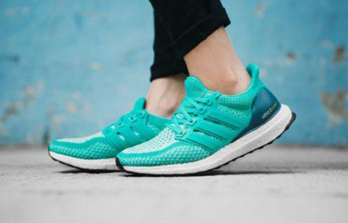 "c78569156f487 The Women s Adidas Ultra Boost 2.0 ""Shock Mint"" are available now for just   119.99 with Free Shipping"