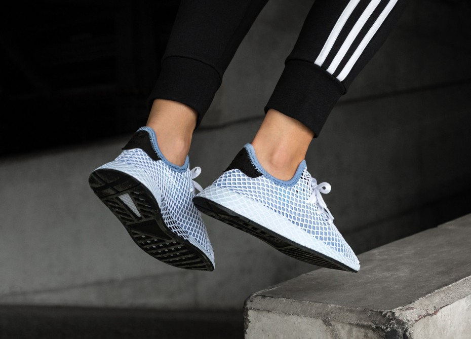 2d9ae28252a4c WMNS adidas Deerupt Runner  Chalk Blue  Sale Price   37.49 (Retail  100)  Discount applied at checkout