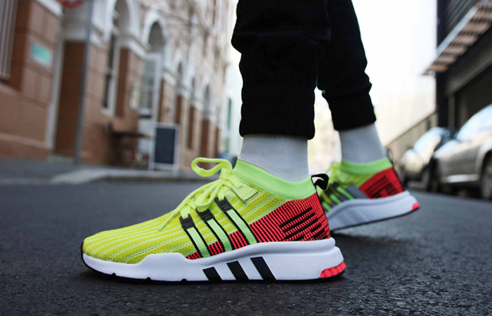 """best service cafb8 93bf4 ADIDAS EQT SUPPORT MID ADV """"GLOW / TURBO"""" $37.50 