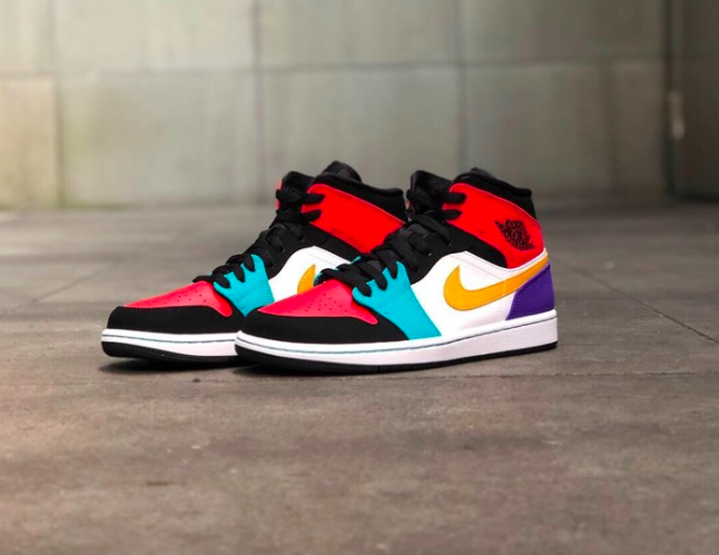 "Steal ""multi Air Mid Jordan 1 Color""Sneaker L4AqS35Rjc"
