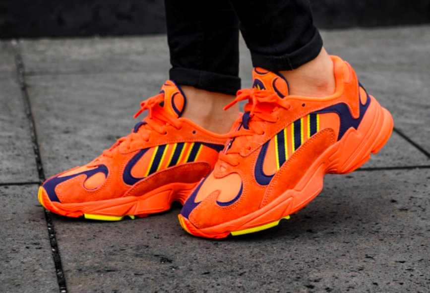 "unique design free delivery run shoes ADIDAS ORIGINALS YUNG 1 ""HI-RES ORANGE"" $76.96 