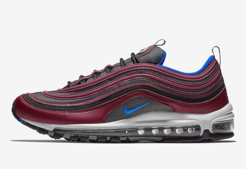 "b26a1dd957 The Nike Air Max 97 ""Maroon / Blue"" are available now for just $83.18 with  Free Shipping"