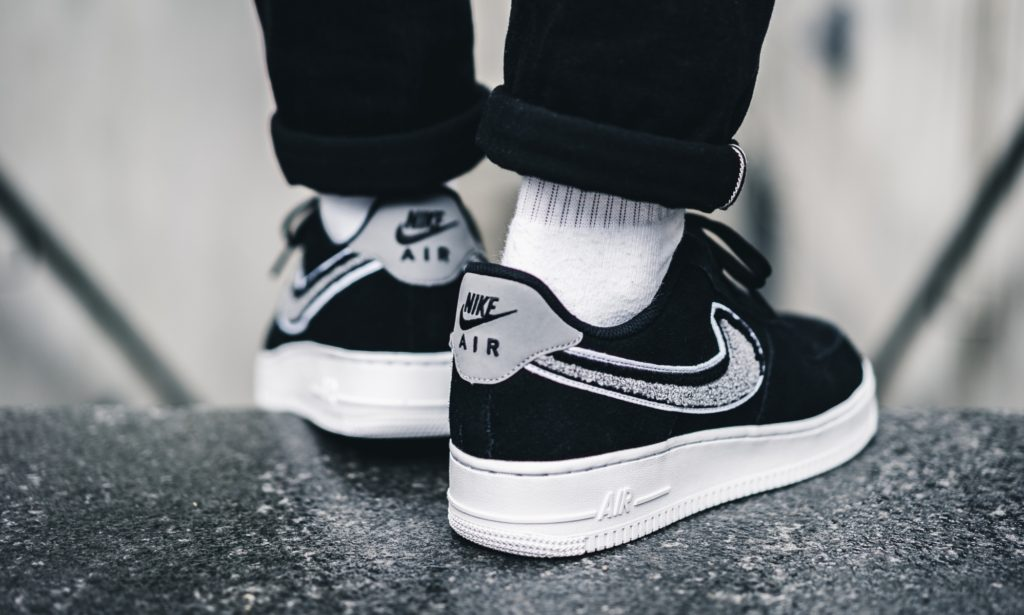 separation shoes 741d0 d4abe Nike Air Force 1 Low 07 LV8 Chenille  Black Cool Grey  Sale Price   52.48  (Retail  100) + FREE SHIPPING use code SAVE25 at checkout