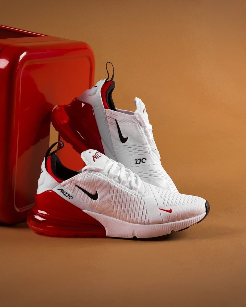 detailed look bf41e 33842 NIKE AIR MAX 270 'WHITE/UNIVERSITY RED' $120.00 FREE ...