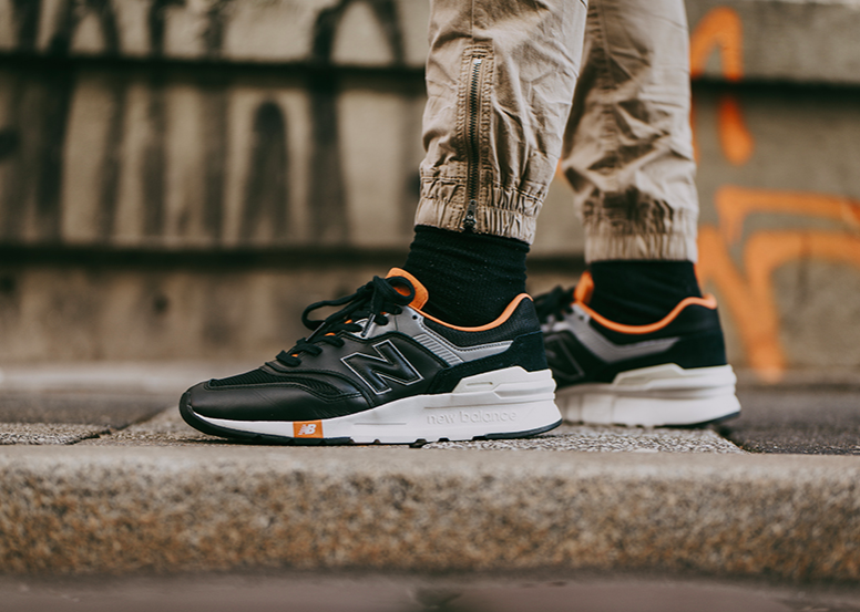 "enjoy lowest price great prices preview of NEW BALANCE 997H ""BLACK / ORANGE"" $50.00 