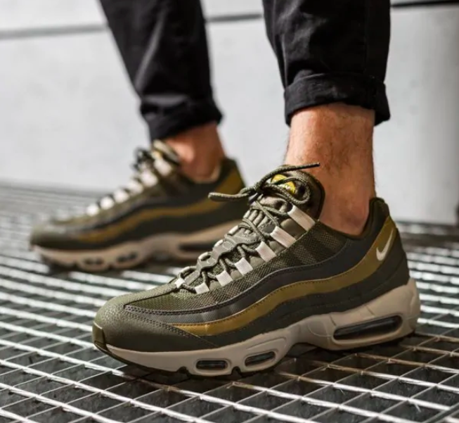 "NIKE AIR MAX 95 ESSENTIAL ""OLIVE CANVAS"" $69.98 