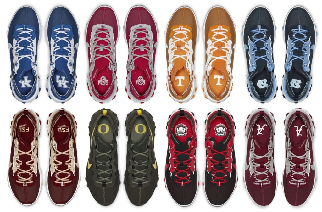 """NCAA X NIKE REACT ELEMENT 55 """"COLLEGE COLLECTION"""" 