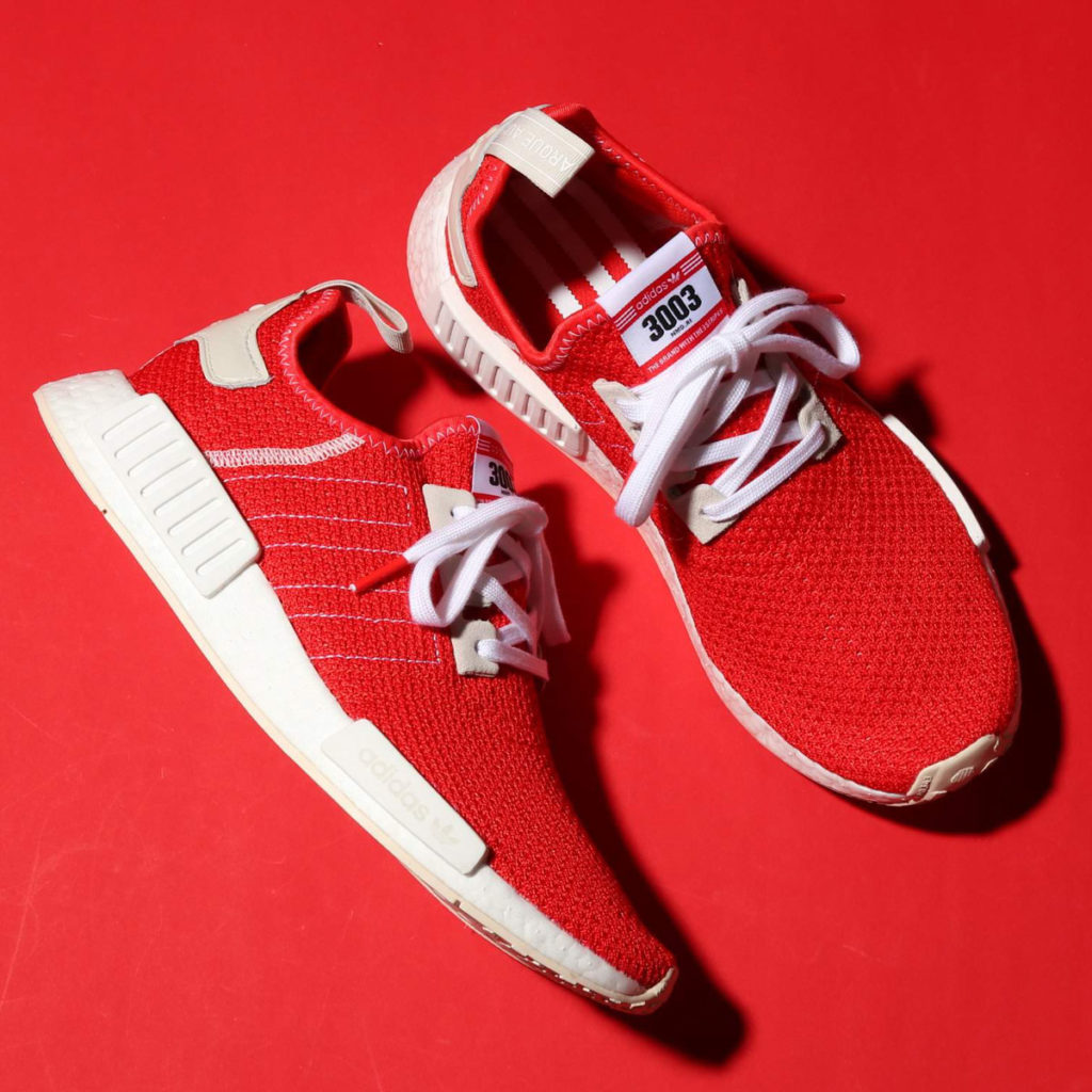 Adidas NMD R1 'Active Red' $52.49 Free