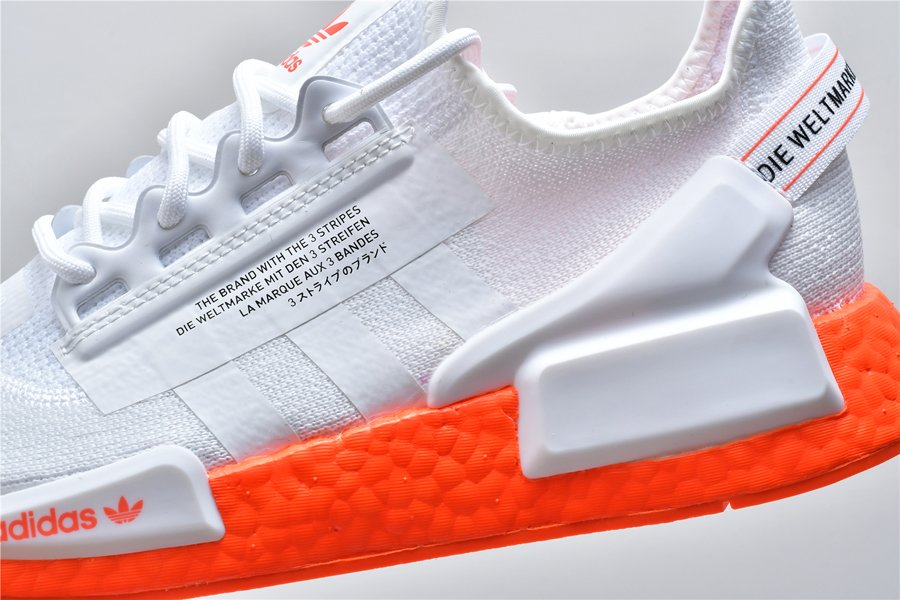 Adidas Nmd R1 V2 Cloud White Solar Orange 63 00 Sneaker Steal